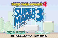 Super Mario Advance 4 - Super Mario Bros. 3 - Introduction  -  - User Screenshot